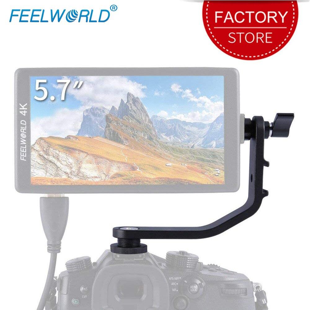Feelworld pochylenia Arm Leightweight konstrukcja z aluminium dla F5 FW568 S55 F570 F6 aparat DSLR monitor zewnętrzny stabilizator Gimbal żuraw Rig