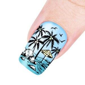 Image 3 - Beautybigbang Nail Stamping Piatti 6*12 centimetri In Acciaio Inox di Estate Sirena Ananas Immagine Stamping Stencil Per Unghie Artistiche XL 071