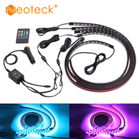 Neoteck 12V 90CM 60CM USB Cable Power LED strip light lamp 5050SMD Christmas desk Decor lamp tape For car Lighting