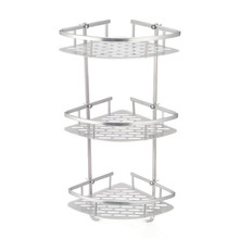Bathroom Shelf 2/3 Layer Aluminum Triangular Rack Bathroom Accessories Storage Organizer For Shampoo Soap Cosmetic Basket Holder(China)