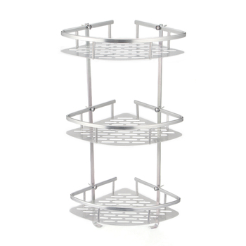 Bathroom Shelf 2/3 Layer Aluminum Triangular Rack Bathroom Accessories Storage Organizer For Shampoo Soap Cosmetic Basket Holder Bathroom Shelves