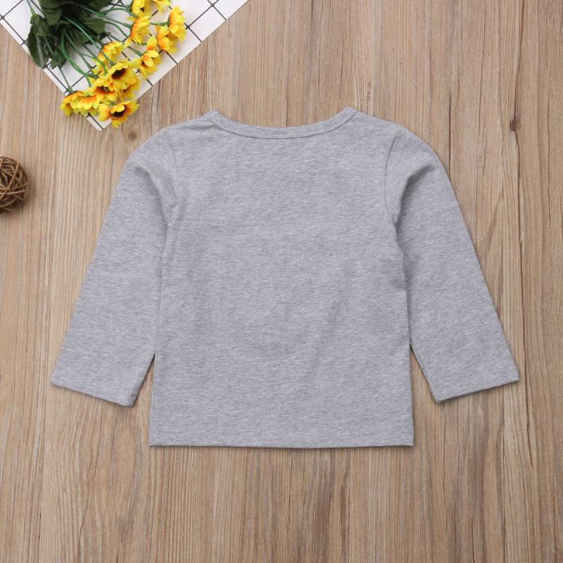 2018 ropa Casual familiar a juego mamá hija niños bebé de manga larga Cuello redondo en forma de corazón camisas blusa Tops moda Otoño conjunto