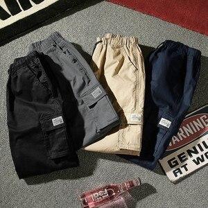 Image 2 - 7XL Men 2019 Spring Autumn Casual Cotton Pockets Cargo Pants Trousers Men Army Military Tactical Fleece Warm Trouser Pant Men