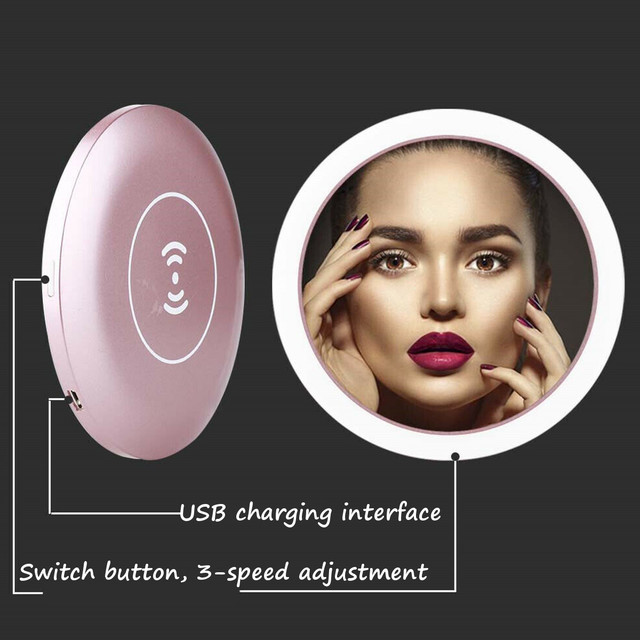 WIRELESS CHARGING LED MAKEUP MIRROR 3