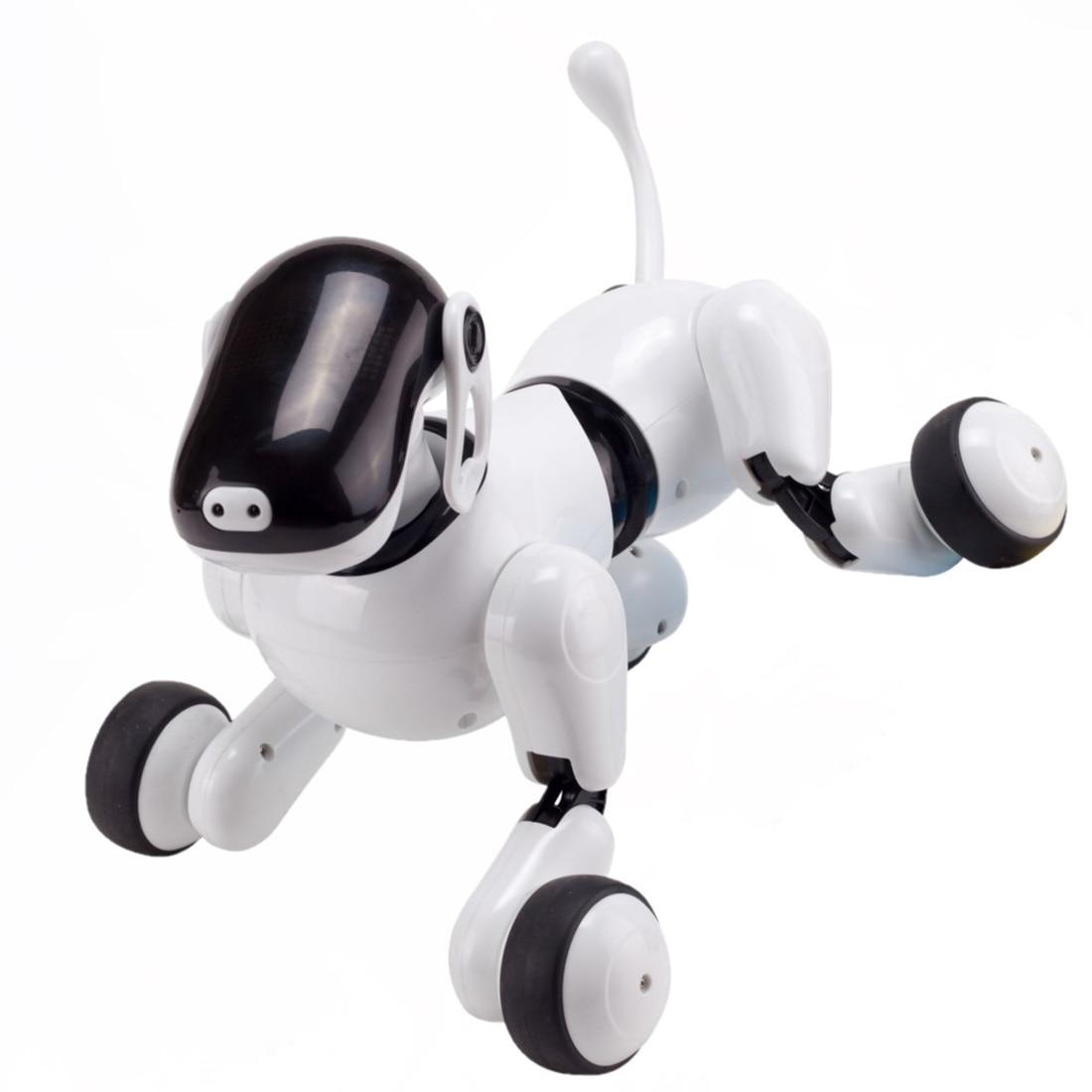 2019 Sans Fil Robot Chien Jouet RC Robot Intelligent Chien Électronique Pet pour Enfants Interactif Jouant Cadeau Jouets Éducatifs Début
