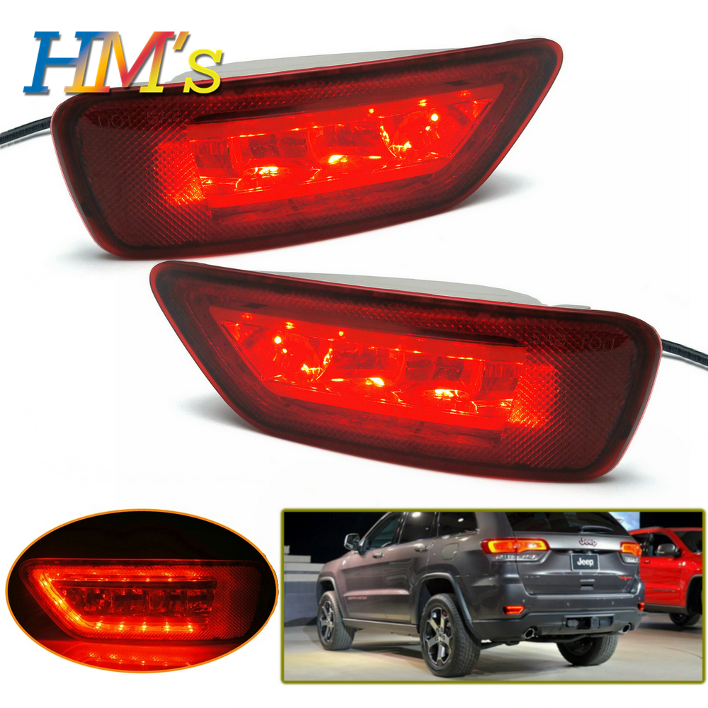 For Jeep Grand Cherokee 2011 2017 2018 WK2 For Jeep Compass Rear Marker Lights LED Bumper