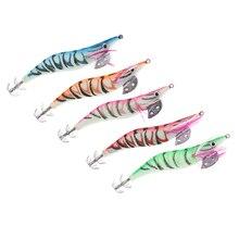 5Pcs Soft Artificial Shrimp Fishing Lure Sea Lures Bait Jigs Luminous Tail Squid Accessories
