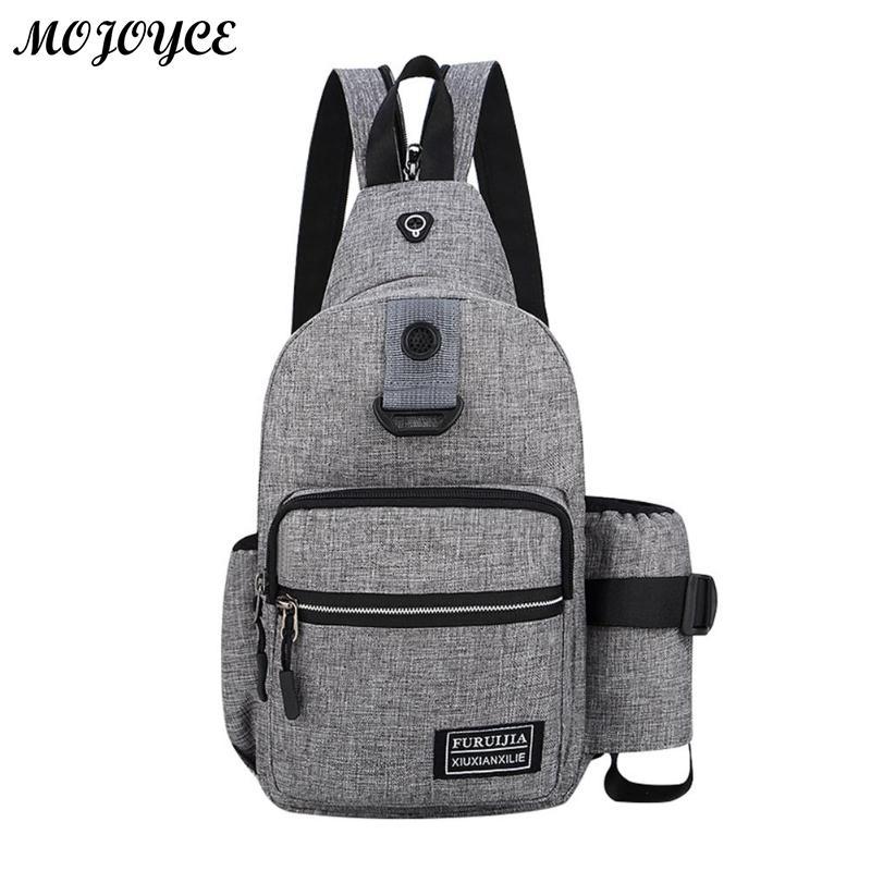 Men Messenger Chest Bag Oxford Shoulder Satchel Crossbody Bags With Side Bottle Pocket Backpack Bolso De Los Hombres Mochila New