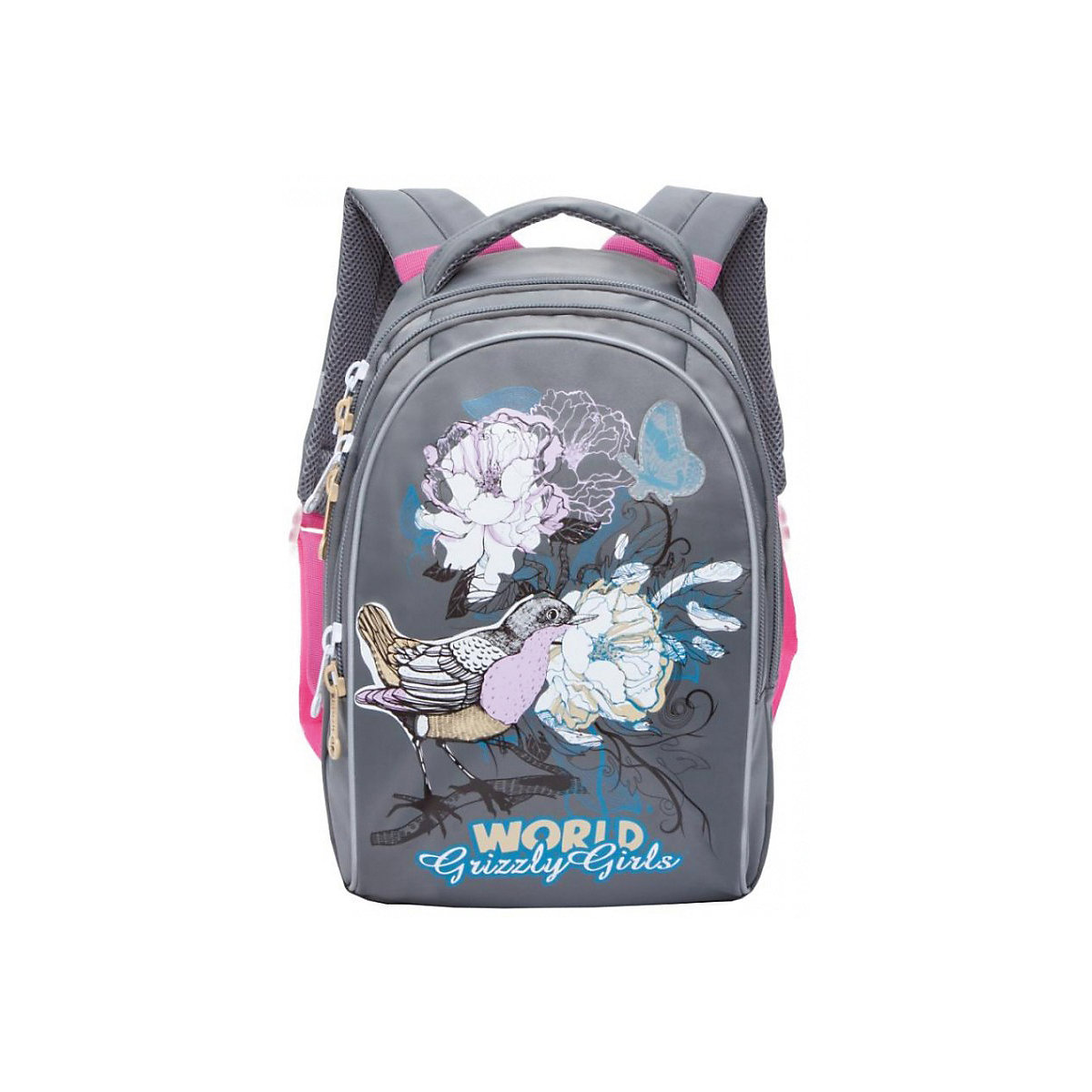 School Bags GRIZZLY 8333946 schoolbag backpack orthopedic bag for boy and girl animals flowers tbone 15inch laptop backpack external usb charge computer backpacks anti theft waterproof bags for men women school bag