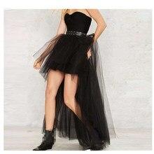 Black Plus Size Swallowtail Skirts Vintage  Gothic Clothing Steampunk Skirts Women Long Burlesque Corset Skirt