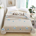 New Printing Summer Quilt Modern Style Air Conditioner Quilt Thin and Light Comfortable Adult Child Quilt 150x200cm 200x230cm
