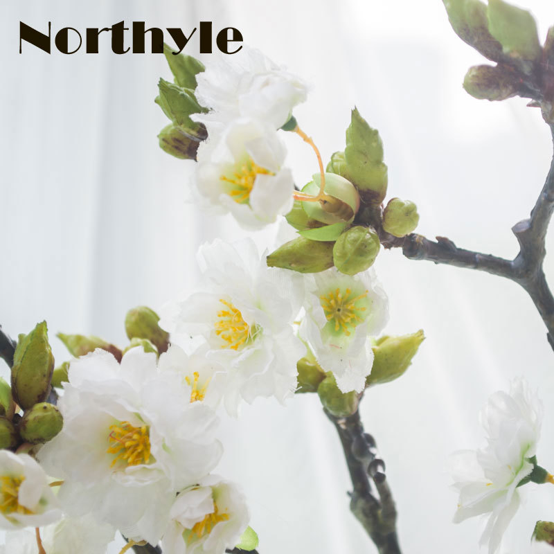 Length 60cm real touch artificial cherry branches decoration fake blossom wedding Sakura flower