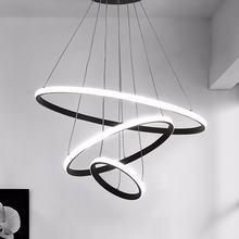 Современный светодиодный подвесной светильник для столовой черные