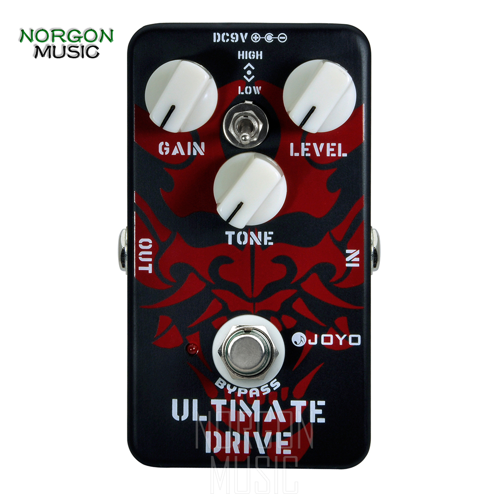Joyo JF 02 Ultimate Overdrive Electric Guitar Effects Pedal High Low Tone Switch Distortion True Bypass