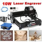 10W USB Desktop Metal Stone Wood CNC Laser Engraver Marking Engraving Machine Engraving Area 20 x 14 cm + Protective Glasses