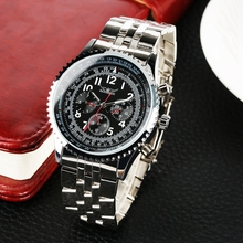 JARAGAR Automatic Mens Watch Mechanical Male Clock Top Luxury Brand Full Stainless Steel Band Unique Wristwatch Horloges Mannen
