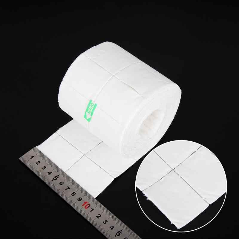 500/300/900 uds/rollo de herramientas de uñas blancas gel de esmalte de uñas toallitas removedor de uñas puntas de Arte de uñas manicura limpieza limpia pelusa de algodón almohadillas de papel