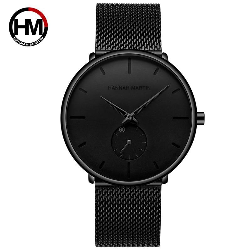 Hannah Martin Luxury Men Watch Simple Business Male Stainless Steel Bracelet Man Watch Casual Wristwatch Montre Homme Reloj 2140