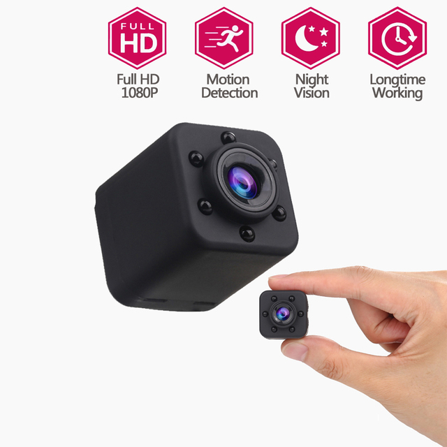 CWH 1080P Mini Camera Video Audio Recorder 2MP Micro Camera Kamera Camcorder Camara Digital HD DVR Cam IR Night Vision SQ18