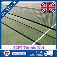 International standard Tennis Net WIth Wire 42ft 12.8M X 108cm Tennis & Racquet Sports Drop 1x Tennis net
