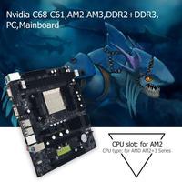 1set Computer Motherboard For Desktop Nvidia C68 C61 Computer Motherboard Support AM2 AM3 CPU DDR2+DDR3 PC Mainboard