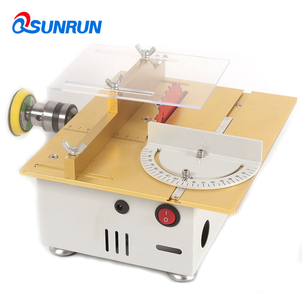 1Set mini table saw DIY woodworking electric saw precision model sawing multifunctional small cutting machine недорго, оригинальная цена