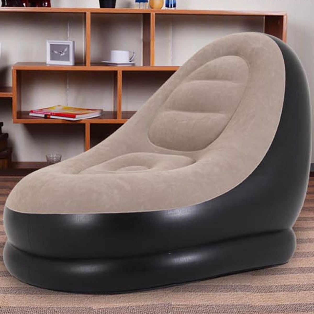 ขนาดใหญ่ Inflatable โซฟาเก้าอี้ Bean Bag Flocking PVC Garden Lounge Beanbag ผู้ใหญ่กลางแจ้งเฟอร์นิเจอร์ Backpacking Travel