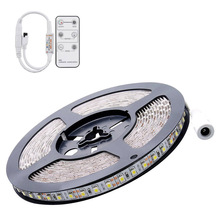 цена на 5M DC 12V 72W SMD 2835*600 Flexible Leds IP65 Waterproof White(6500K) LED Strip Band Lights + Remote Controller
