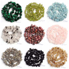"""Free Shipping 5-8mm Natural 18 Type Material Stone Freeform Gravel Loose Beads Strand 16"""" Jewellery Making wj69a"""