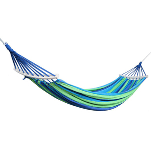 Image 2 - Hot sale Double Hammock 450 Lbs Portable Travel Camping Hanging Hammock Swing Lazy Chair Canvas Hammocks