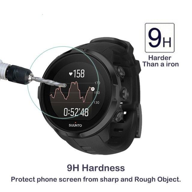 2 paket Suunto Spartan spor bilek HR 0.3mm 2.5D 9H temizle temperli cam ekran koruyucu akıllı saat Film çizilmeye dayanıklı