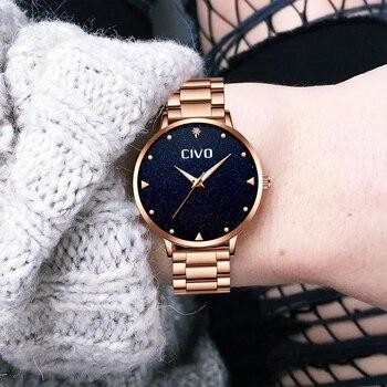 CIVO Luxury Gold Ladies Watches Women Watches Clock Stainless Steel Women'S Bracelet Watches Relogio Feminino Montre Femme 3