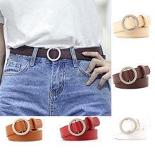 Good Quality 2018 Fashion Women Belts Leather Metal Pin Round Buckle Waist Belt Waistband Pip