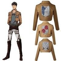 Attack on Titan Cosplay Jacket Rival Ackerman Mikasa Dot Pixis Eren Yeager Top Anime Shingeki no Kyojin Costume Halloween Adult