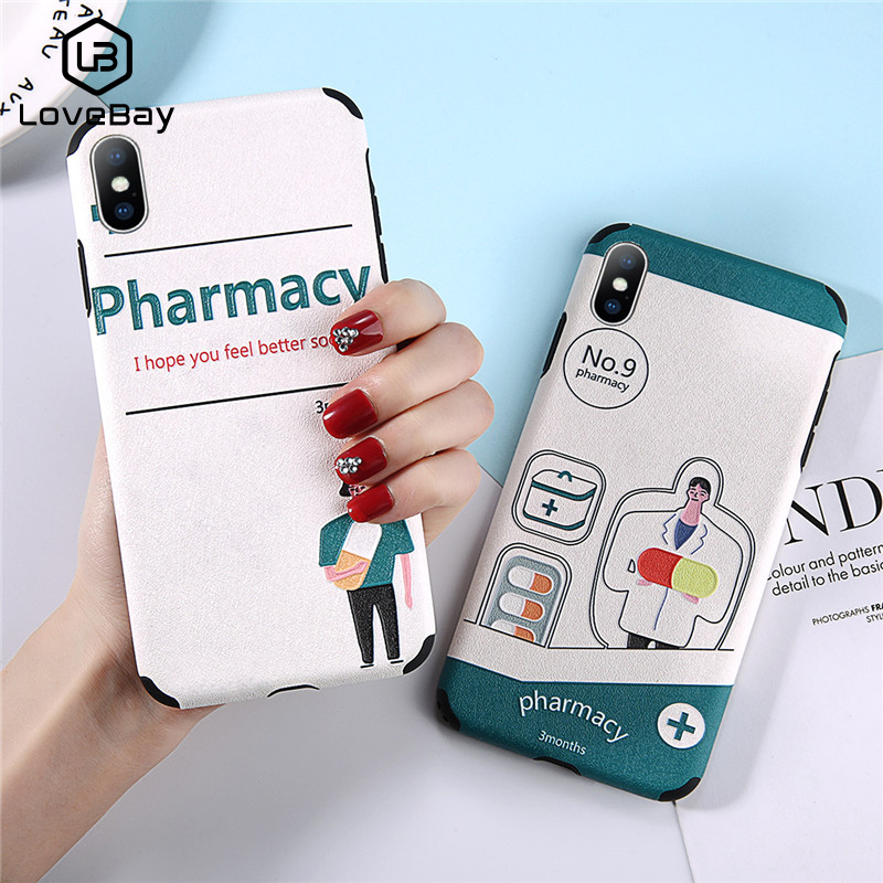Cellphones & Telecommunications Dutiful Lovebay For Iphone 6 6s 7 8 Plus X Xr Xs Max Doctor Medicine Profession Back Cover Soft Phone First-aid Case Holder Gift Cartoon Mild And Mellow