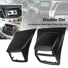 2 Din Car Stereo Radio Fascia Piastra del Pannello Telaio DVD Stereo Kit di Montaggio per Mitsubishi Pajero Sport per Triton L200 2014