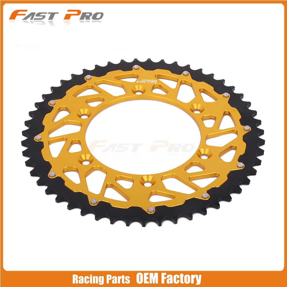 <font><b>48T</b></font> CNC Rear Chain <font><b>Sprocket</b></font> RM125 DRZ250 DR250 RMZ250 RM250 RMZ450 Motocross Supermoto Enduro Off Road Racing image