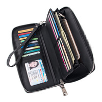 New Design Fashion Multifunctional Women's Wallet Genuine Leather Zip Around Clutch Large Travel Purse Female Long Wallet 593 50