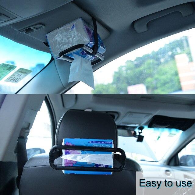 Car Visor Tissue Paper Box Holder Auto Seat Back Accessories Black Clip Brackets for BMW E30 E90 PASSAT B6 FORD FIESTA