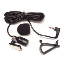 Microfone automotivo 3.5mm, rádio automotivo portátil, com fio, som estéreo, microfone reprodutor