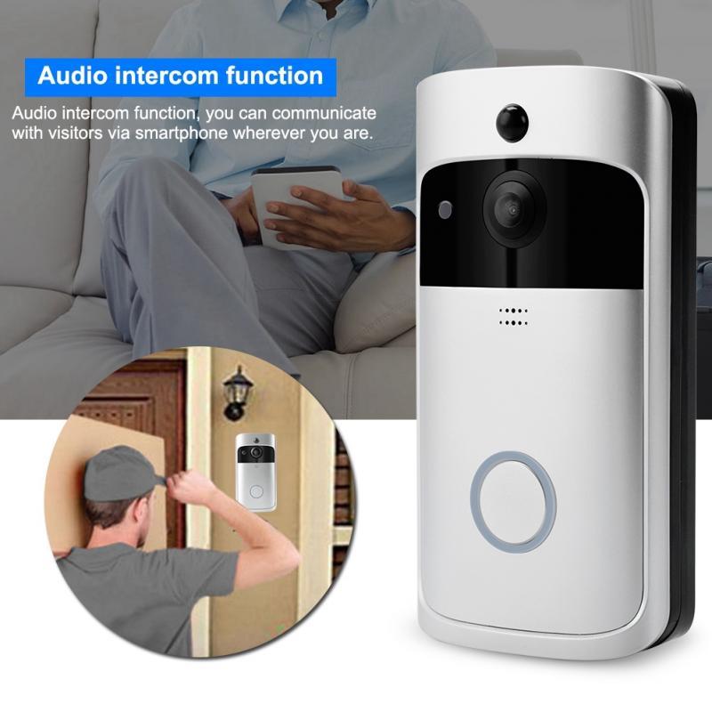 Image 2 - 720P Home Security Monitoring Door Bell Smart WiFi Video Intercom Doorbell Wireless IR Night Camera wireless belldoor-in Doorbells from Home Improvement