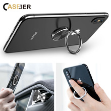 CASEIER Metal Finger Ring Holder Stand For Samsung S10 s9 s8 Mobile Phone bracket  Soporte para anillo de dedo del