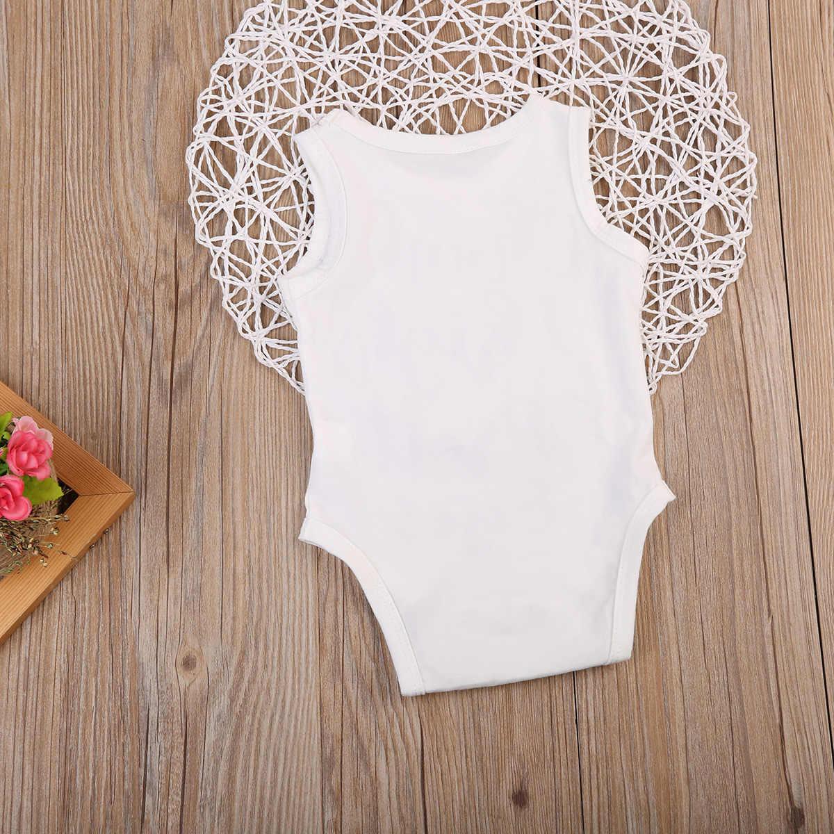Sơ sinh Bé Trai Bé Gái Cotton Jumpsuit Bodysuit Thư In Đen Trắng Trẻ Mới Biết Đi Trẻ Em Quần Áo Trang Phục