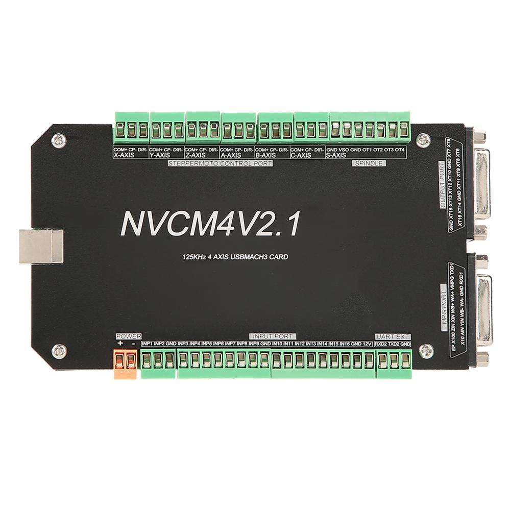 Image 3 - New NVCM 4 Axle CNC Controller MACH3 USB Interface Board Card for Stepper Motor New High Quality-in Motor Driver from Home Improvement
