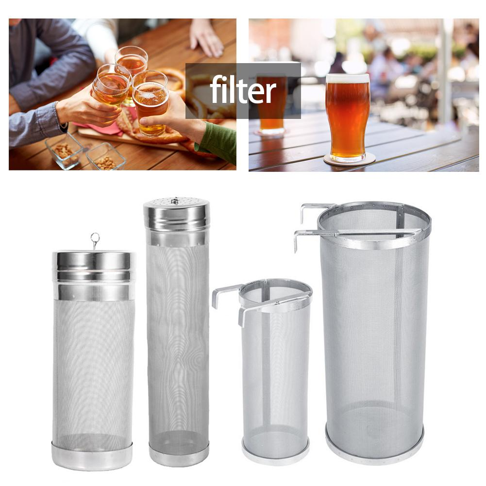Stainless Steel Homemade Brew Beer Hop 300 Micron Mesh Filter Strainer With Hook Beer Brewing Hop Spider Mesh Filter Strainer