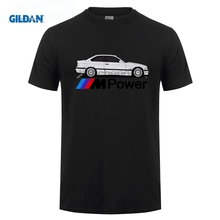 GILDAN Funny Clothing Casual Short Sleeve New T-Shirt E36 M3 M Power Logo Personalized E90 E91 Custom Print 100%Cotton Tee Shirt