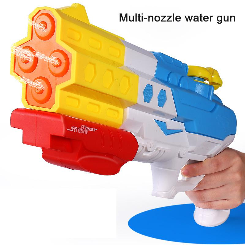 Water Gun Summer Large Capacity Multiple Nozzle High Pressure Water Gun For Kids Swimming Pool Beach  Water Park Toy