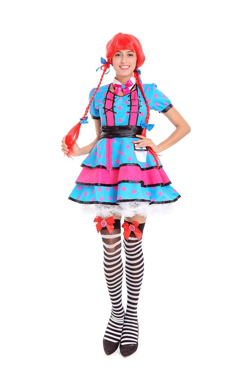 German Oktoberfest Costume Maid Role Playing Uniform And Clown Cosplay Costume for Halloween Party