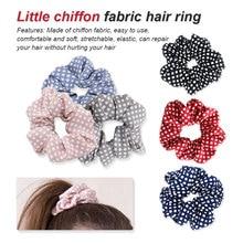 European and American popular medium chiffon fiber wave point hair ring high elastic