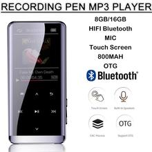 OTG MP3 Player Voice Recorder Bluetooth 4.2 Touch Screen 1.8inch Mini Portable H